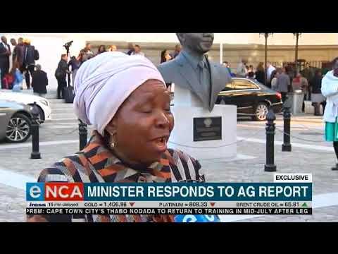 Dlamini-Zuma responds to AG report