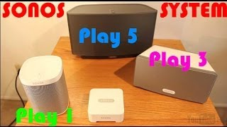 Sonos Play 1, Play 3 and Play 5 Review- Best Wireless Sound System!