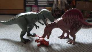 Spinosaurus besiegt T-Rex