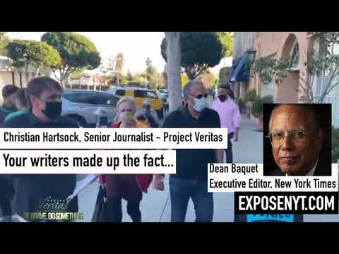 Project Veritas Senior Journalist Christian Hartsock confronts NYT Executive Editor Dean Baquet