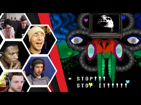 Let's Players Reaction To Defeating Omega Flowey / Photoshop Flowey | Undertale