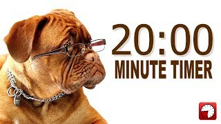 20 Minute Timer for PowerPoint and School - Alarm Sounds with Dog Bark