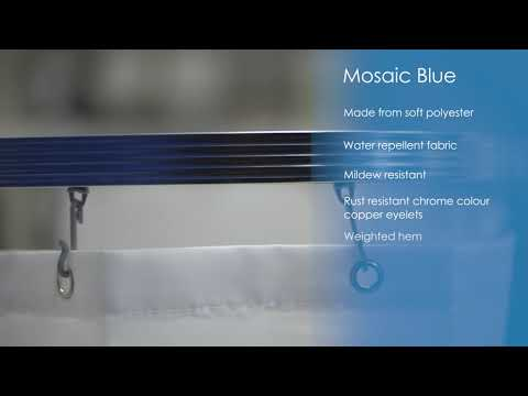 Aqualona Mosiac Blue Shower Curtain