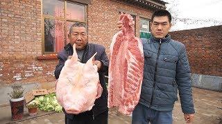 【食味阿远】14斤猪头、10斤排骨,阿远做传统挤猪头肉,忙活7小时就为吃   Shi Wei A Yuan