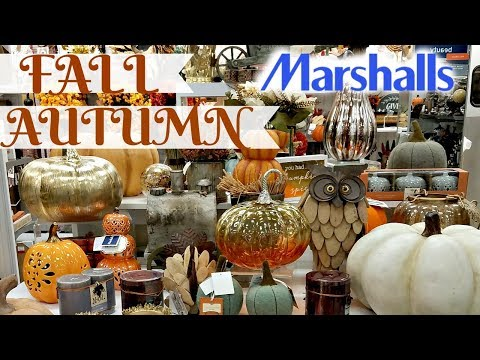 Shop with Me !  At Marshalls Fall / Autumn Decor Walk Through 2017