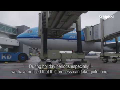 Innovatie passagiersbrug op Schiphol