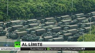 Unidades del Ejército chino se concentran en la frontera con Hong Kong