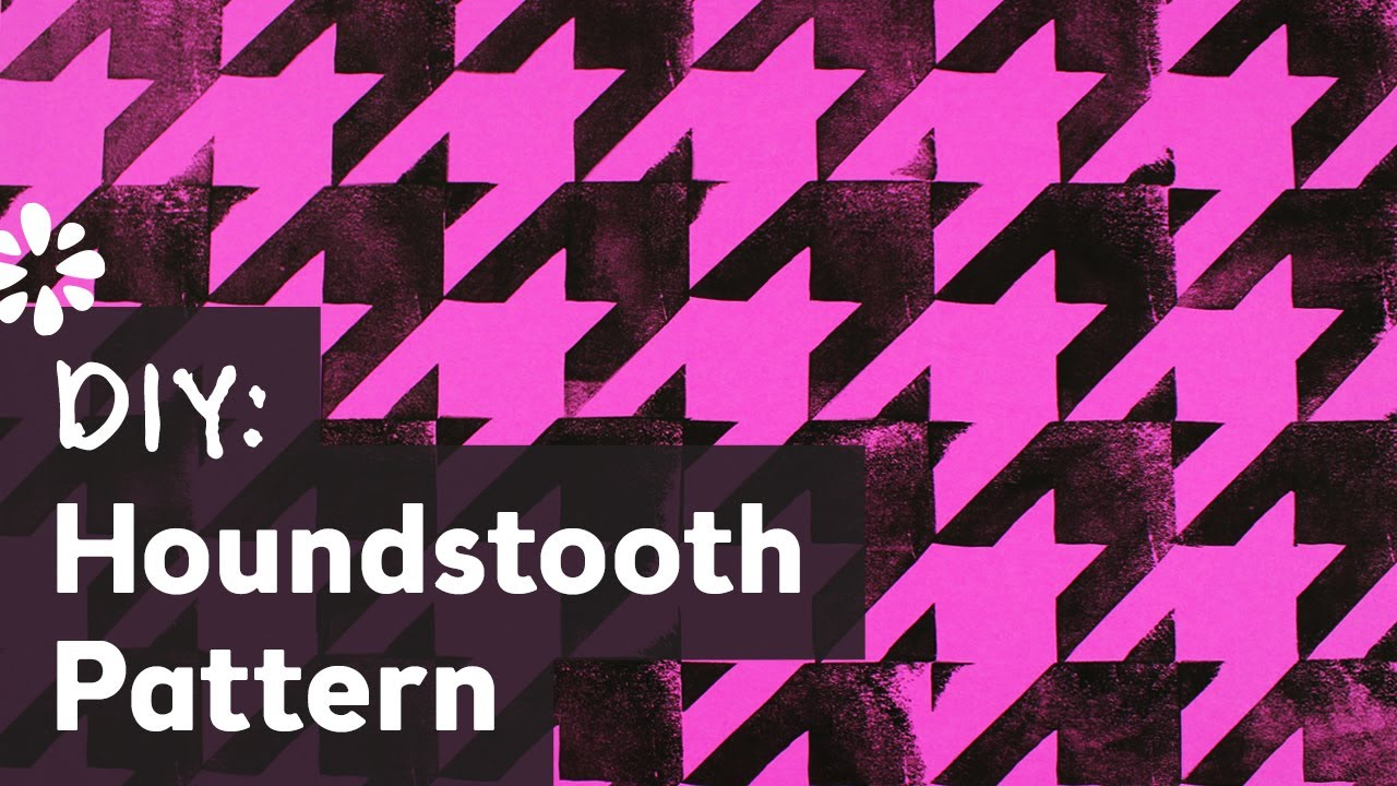 How to Make Houndstooth Pattern - YouTube