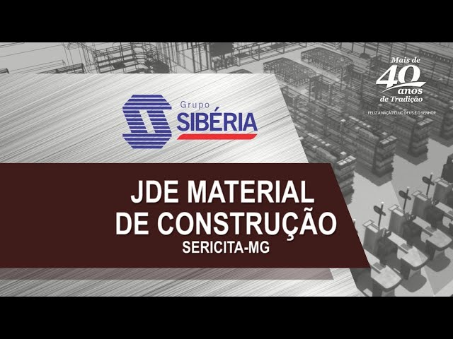 Projeto 3D - JDE Material de Construção - Sericita/MG