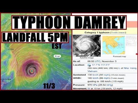 TYPHOON DAMREY WIll Slam VIETNAM by 5PM EST Then Reforms again?!