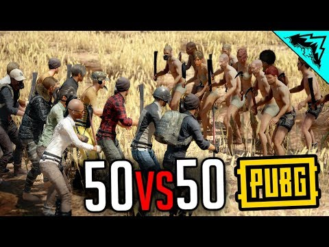 50v50 MELEE INSANITY - PlayerUnknown's Battlegrounds Gameplay Highlights (PUBG Gameplay Custom Game)