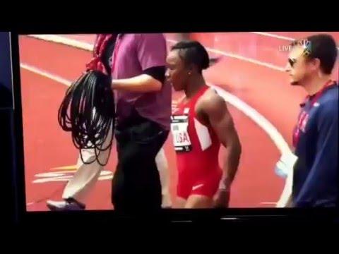 Penn Relay 2016 women 4x100 USA vs the World