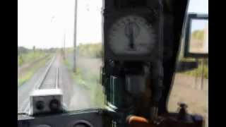Поездка в кабине электровоза ВЛ80с-1594(Поездка в кабине электровоза ВЛ80с-1594 из Одессы на Белгород-Днестровск, скорость по перегону 70-90 км/ч, по..., 2013-03-04T14:31:13.000Z)