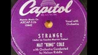 Watch Nat King Cole Strange video