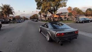 Pissing off my neighbors in my LS! 240sx!
