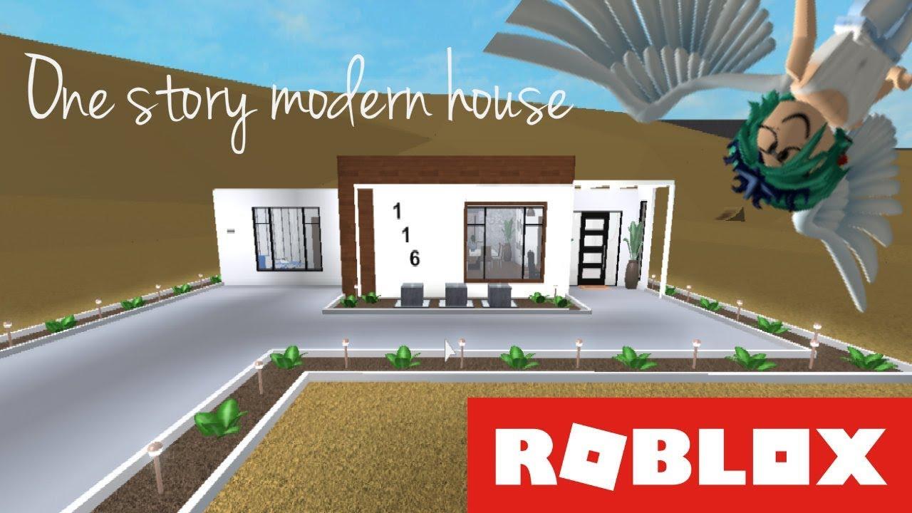 Roblox bloxburg one story modern house casa moderna for Casa moderna 3181