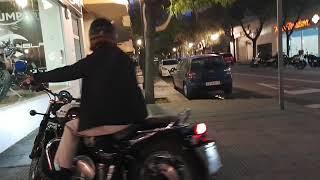La moto en la ciudad