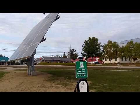 Solar Powered Level 2 EV Charge Station at OHCHS South Paris ME