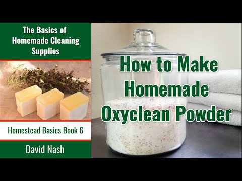 How to Make Homemade Oxyclean