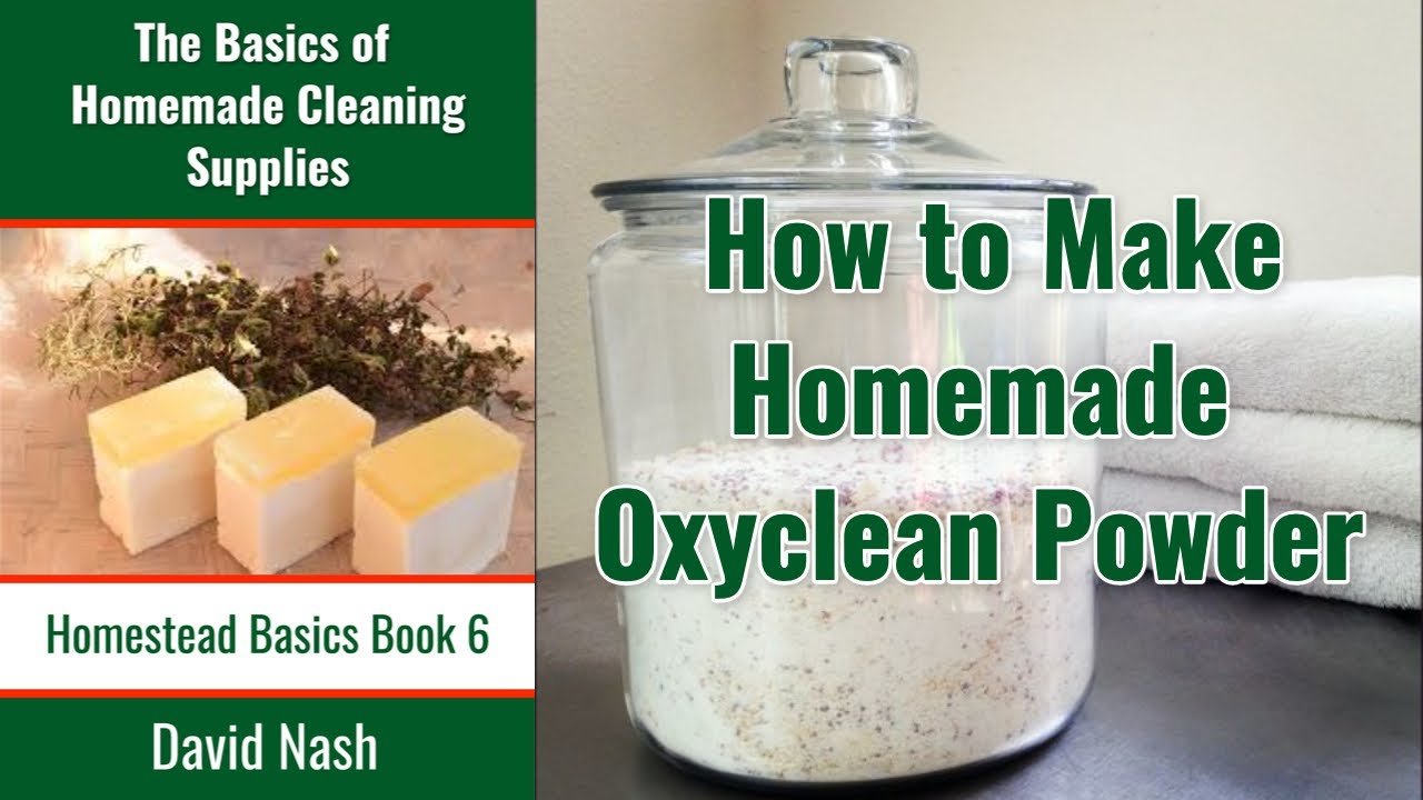 How to Make Homemade Oxyclean - YouTube