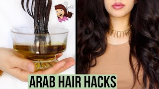 5 Arab Hair Hacks Every Girl Must Know For Thicker & Longer Hair!!!