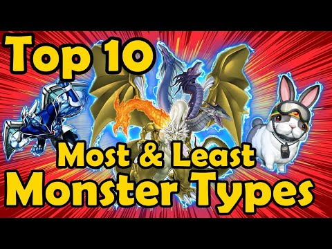 Top 10 Most And Least Represented Monster Types In YuGiOh