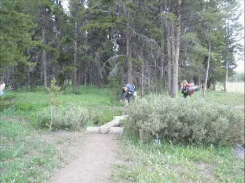 Backcountry camping in Yellowstone
