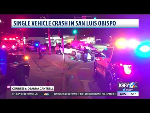 Single vehicle crash in San Luis Obispo