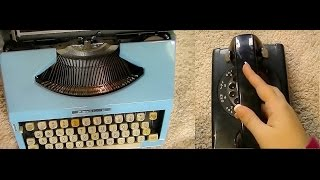 Kickin it Old School: Binaural Typewriter and Rotary Phone ASMR for Relaxation