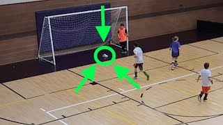 ⚽️BOY SCORES WINNING SOCCER GOAL WITH SHOE TRICK!👟😱