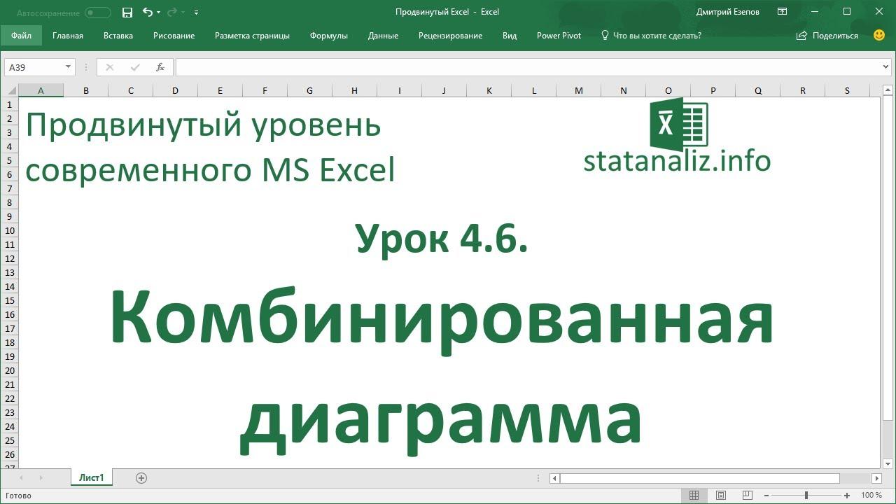 Комбинированная диаграмма в MS Excel
