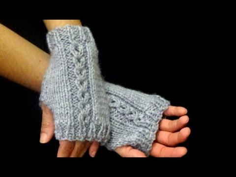 C mo tejer mitones how to knit mittens 2 agujas 326 - Como hacer ochos de punto ...