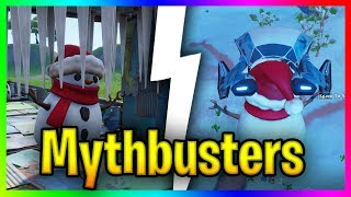 Does A snowman Protect you From A Trap?? *Snowman Myths* | Fortnite Mythbusters