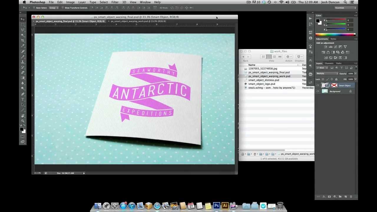 Photoshop Smart Object Warping Tutorial Graphic Design Photoshop Tutorial Photoshop