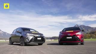 Vergleichstest Toyota Yaris Hybrid und Benzin
