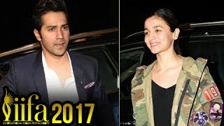 Iifa 2017: Varun Dhawan And Alia Bhatt Depart To New York