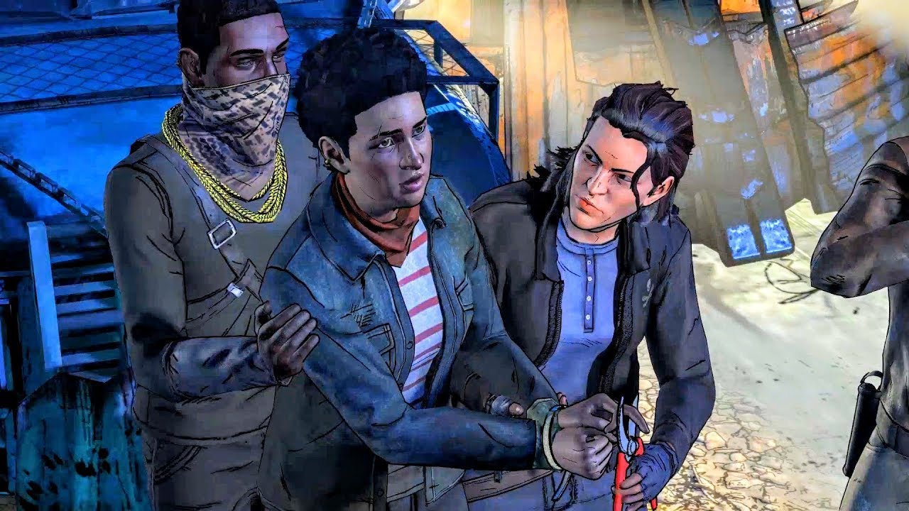 Download New Frontier Thugs Cut Francine Finger and Kill Her: Two Options (Walking Dead   Telltale Games)