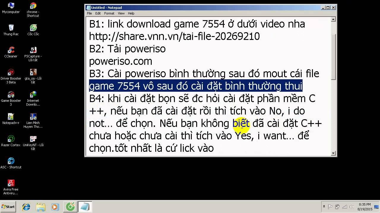 Hướng dẫn download game 7554 game chiến dịch điên biên phủ