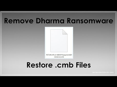 .cmb Files Ransom Virus Dharma   How to Remove + Restore Data