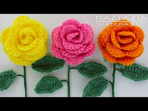 How To Crochet Ruffle Rose Scarf Free Pattern Tutorial For Beginners : How To Make Crochet Rose Scarf Youtube Rachael Edwards