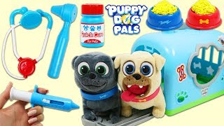 Disney Jr Puppy Dog Pals Bingo and Rolly Grow Huge and Visit Pet Vet Toy Hospital!
