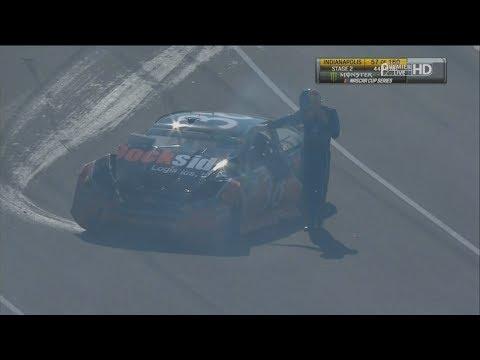 Monster Energy NASCAR Cup Series 2017. Indianapolis Motor Speedway. David Ragan Crash