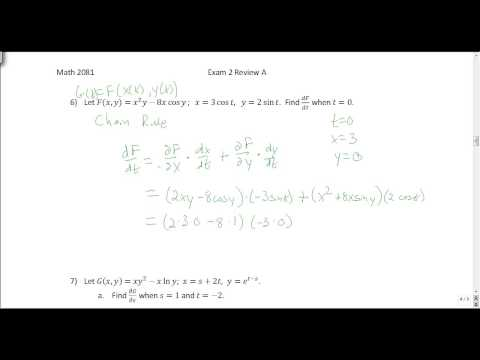 Multivariable Calculus: Exam 2 Review A Solutions