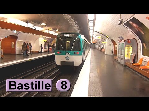 m tro de paris bastille ligne 8 ratp mf77 youtube. Black Bedroom Furniture Sets. Home Design Ideas
