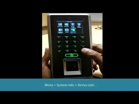 eSSL F21 How to check Fingerprint algorithm