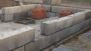 как из блоков сделать фундамент для дома своими руками