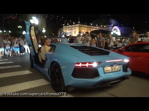 Valet in Monaco has ultimate Lamborghini parking skills!