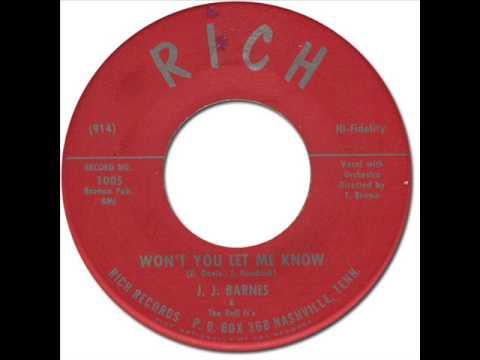 J.J.BARNES & THE DEl-FI'S - Won't You Let Me Know [Rich 1005] 1960