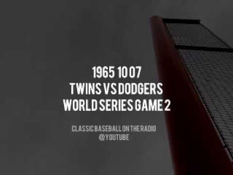 1965 10 07 World Series Game 2 Twins vs Dodgers Radio Broadcast Joe Garagiola & Byrum Samm