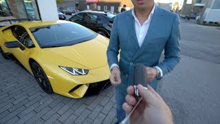 Picking Up The Lamborghini Huracan Performante